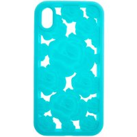 Claire's Turquoise Floral Cut Out Silicone Phone Case - Fits Iphone Xr - Turquoise Gifts