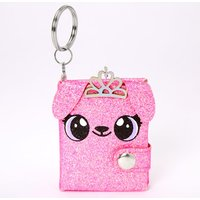 Claire's Alexa The Puppy Mini Diary Keychain - Pink - Diary Gifts