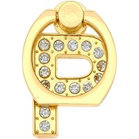 Claire's Gold Initial Ring Stand - P - Claires Gifts