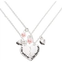 Claire's Like Mother Like Daughter Heart Pendant Necklaces - 2 Pack - Necklaces Gifts