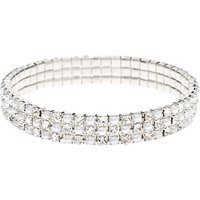 Claire's Silver Rhinestone & Pearl Stretch Bracelet - Fashion Gifts