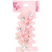 Claire's Club Flower Hair Ties - Pink, 4 Pack - Ties Gifts