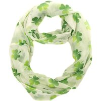 Claire's St. Patrick's Day White Shamrock Scarf - St Patricks Day Gifts