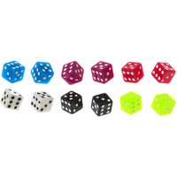 Claire's 6 Pack Bright Dice Stud Earrings - Dice Gifts