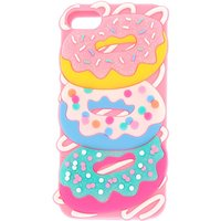 Claire's Glitter Donut Ipod 5/6 Phone Case - Pink - Ipod Gifts