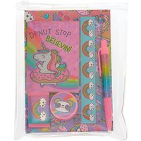 Claire's Donut Stop Believin Rainbow Stationary Set - 6 Pack - Stationary Gifts