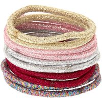 Claire's Glam Glitter Hair Ties - Pink, 10 Pack - Ties Gifts