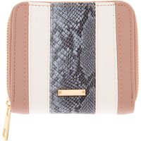Claire's Striped Snake Skin Mini Zip Wallet - Snake Gifts