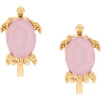 Claire's Gold Turtle Clip On Earrings - Pink - Turtle Gifts