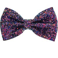 Claire's Glitter Galaxy Bow Hair Clip - Purple - Claires Gifts