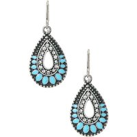 Claire's Turquoise Stone Tear Drop Earrings - Turquoise Gifts