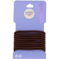 Claire's Luxe Hair Ties - Brown, 10 Pack - Brown Gifts