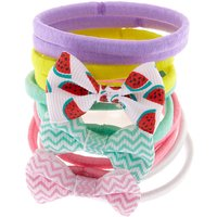 Claire's Club Bow Hair Ties - 10 Pack - Ties Gifts
