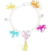 Claire's Rainbow Unicorn Dreamcatcher Charm Bracelet - Charm Bracelet Gifts
