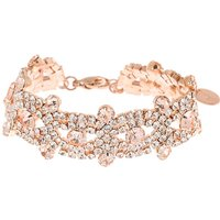 Claire's Rose Gold Rhinestone Infinity Chain Bracelet - Bracelet Gifts