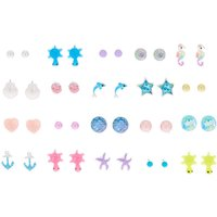 Claire's At The Beach Stud Earrings - 20 Pack - Beach Gifts