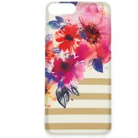 Claire's Floral And Striped Phone Case - White - Phone Gifts