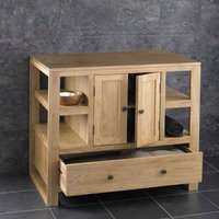Large Solid Oak Storage Unit with Drawer and Cupboard  Cube