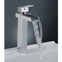 310mm Tall Cascade  Waterfall Basin Mixer Tap with Single Lever Control