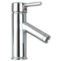 Single Lever Bathroom Basin Mixer Tap in Stainless Chrome Height: 180mm Basin Mounted Short Tap
