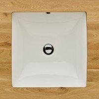 Last One - Large White Square Undermount Inset Bathroom WashBasin 440mm CASTELO