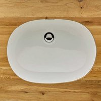 White Oval Undercounter Ceramic Bathroom Basin 570mm by 410mm TORRES
