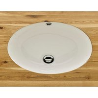 Last One  - Tomar 440mm by 360mm Oval Undercounter Inset Ceramic Washbasin Sink