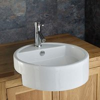 Large Semi-Recessed Sink | £39 Value Range | Round Washbasin 480mm | Vitoria