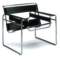Knoll International Knoll - Wassily Stuhl, Rindkernleder schwarz