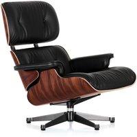 Vitra - Lounge Chair poliert / Seiten schwarz, Santos Palisander (neue Maße)