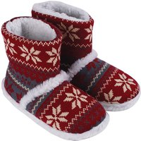 Red Lge Nordic Slippers