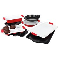 Red 4Pc Bakeware Set Ceramic Coated