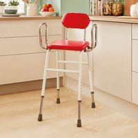Adjustable Kitchen Stool Red by Coopers of Stortford