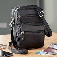 Messenger Bag Leather Black by Coopers of Stortford