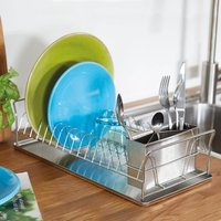 Slimline Stainless Steel Dish Rack by Coopers of Stortford