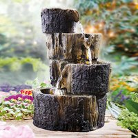 Solar Log Water Fountain by Coopers of Stortford