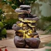 Solar Cascading Rock Water Fountain By Coopers of Stortford