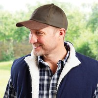 Waxed Cotton Cap Navy by Coopers of Stortford