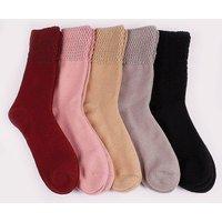 Ladies Silk Socks Size 4-8 Pk5