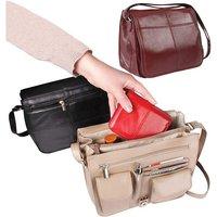 Stone Org Handbag With Security Strap