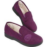 Ladies Plum Slippers Size 4