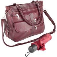 Ladies Organiser Handbag W/Umbrella Black by Coopers of Stortford