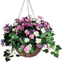 Purple Pansy Basket