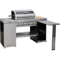 Gourmet Gas & Charcoal Stainless Steel BBQ - Pro Island