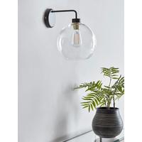 Glass Globe Wall Light