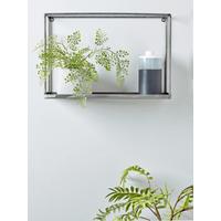 Small Raw Steel Box Shelf