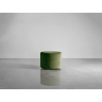 Scandi Footstool - Moss Cotton Velvet (Sample)