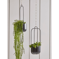 Two Hanging Metal Planters