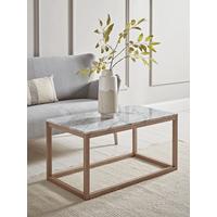 Oak & Marble Coffee Table