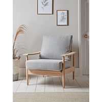 Beech Spindleback Armchair - Soft Grey